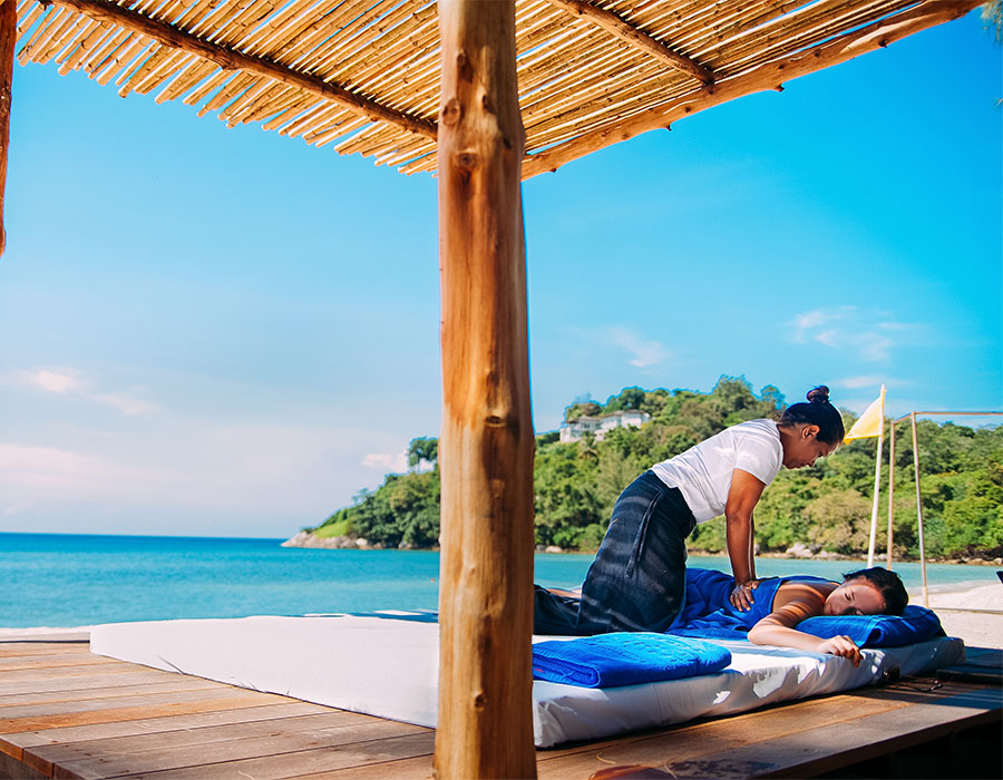 Massage as part of an all-inclusive package to Cancun
