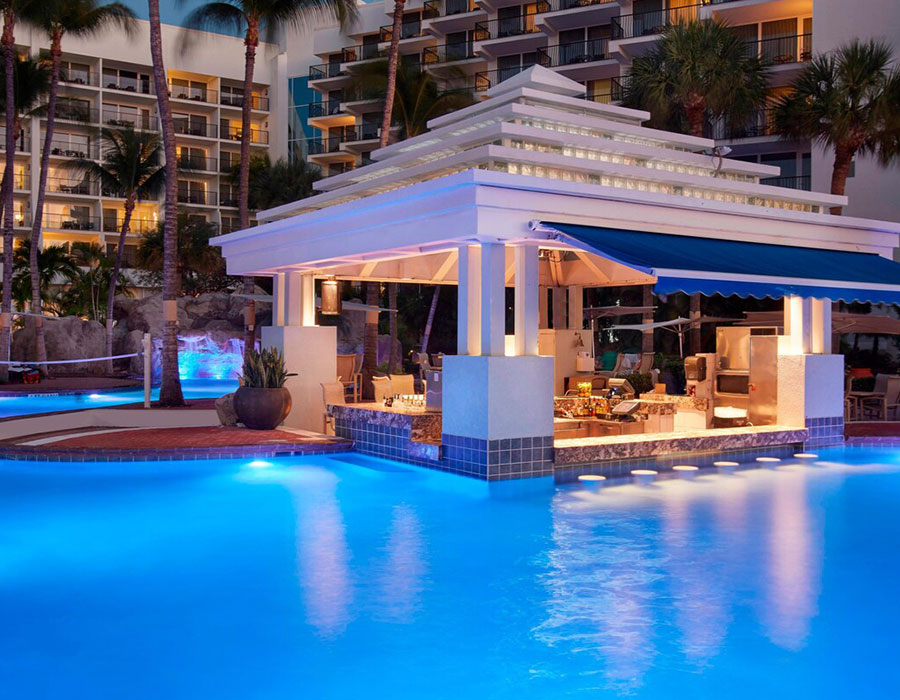 Pool at the Aruba Marriott Resort & Stellaris Casino
