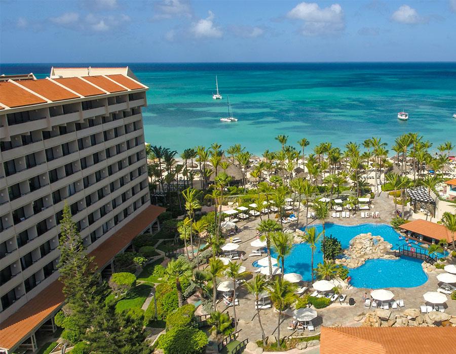 Ocean view of the Barcelo Aruba resort