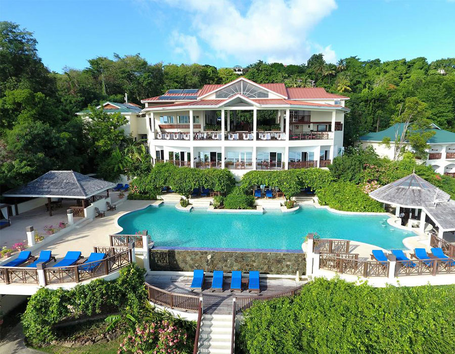 Front view of Calabash Cove Resort & Spa in St. Lucia