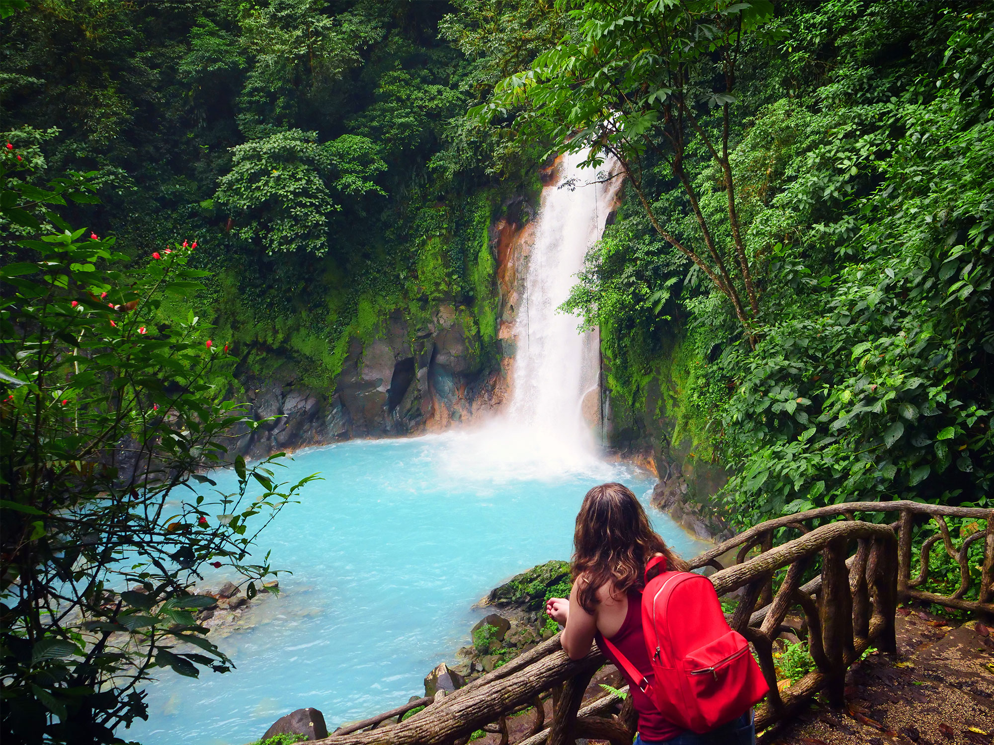 Hiking to a waterfall in Costa Rica