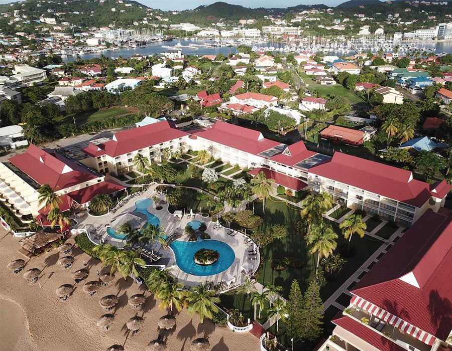 Ariel view of the Mystique St. Lucia resort