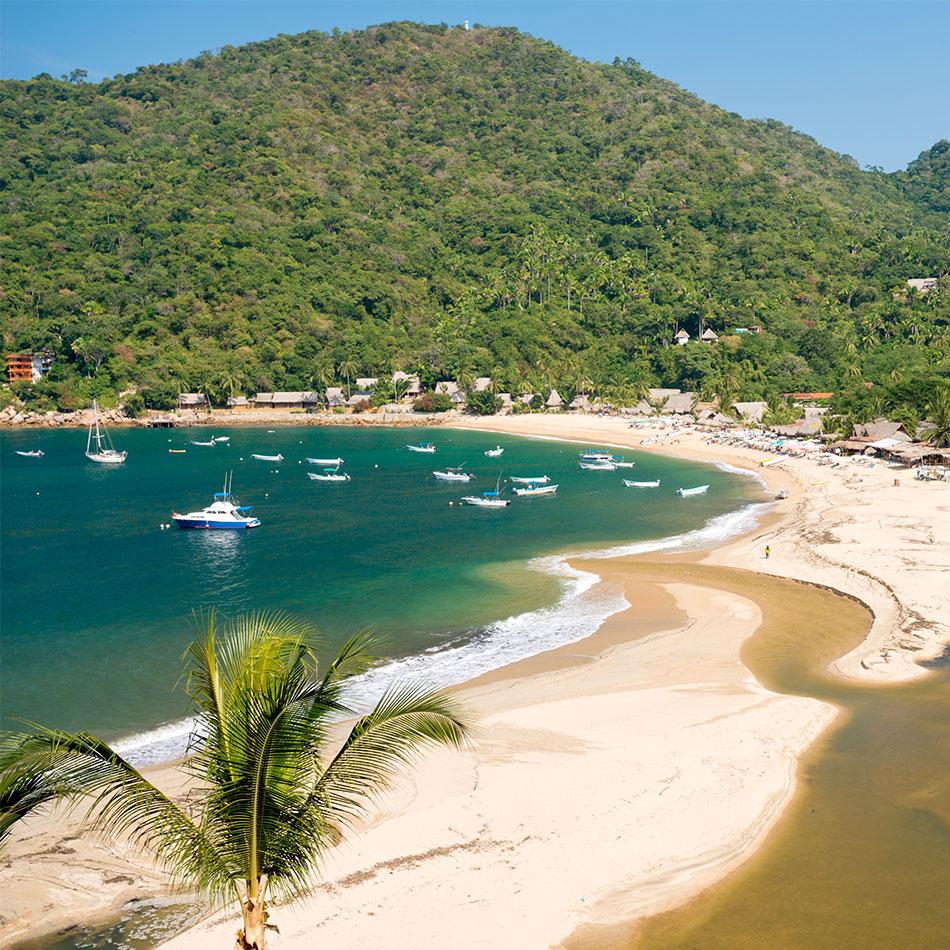 Beach in Puerto Vallarta from a Mexico travel agent