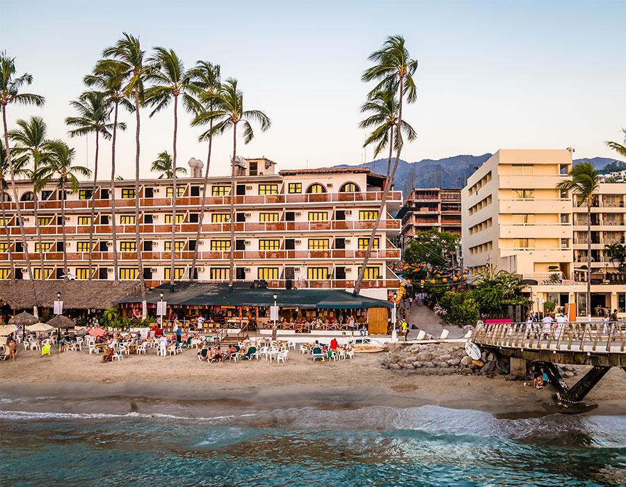 Resort on beach in Puerto Vallarta