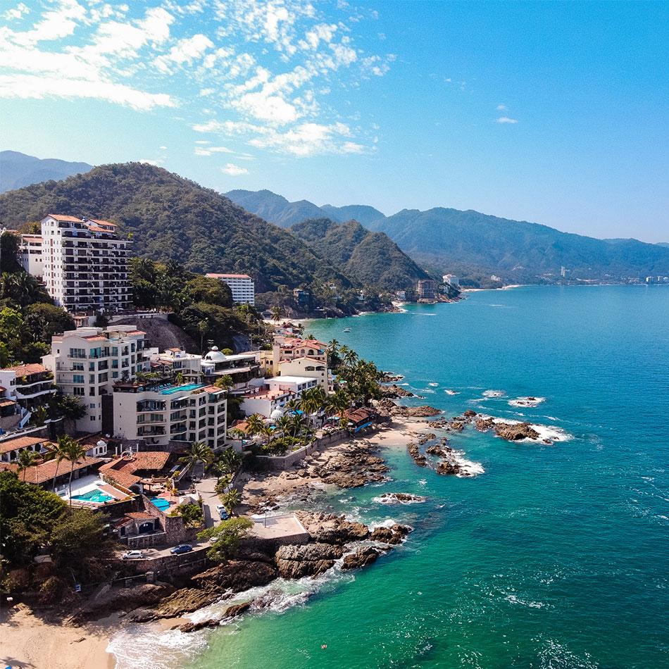 Beach resorts in Puerto Vallarta Mexico