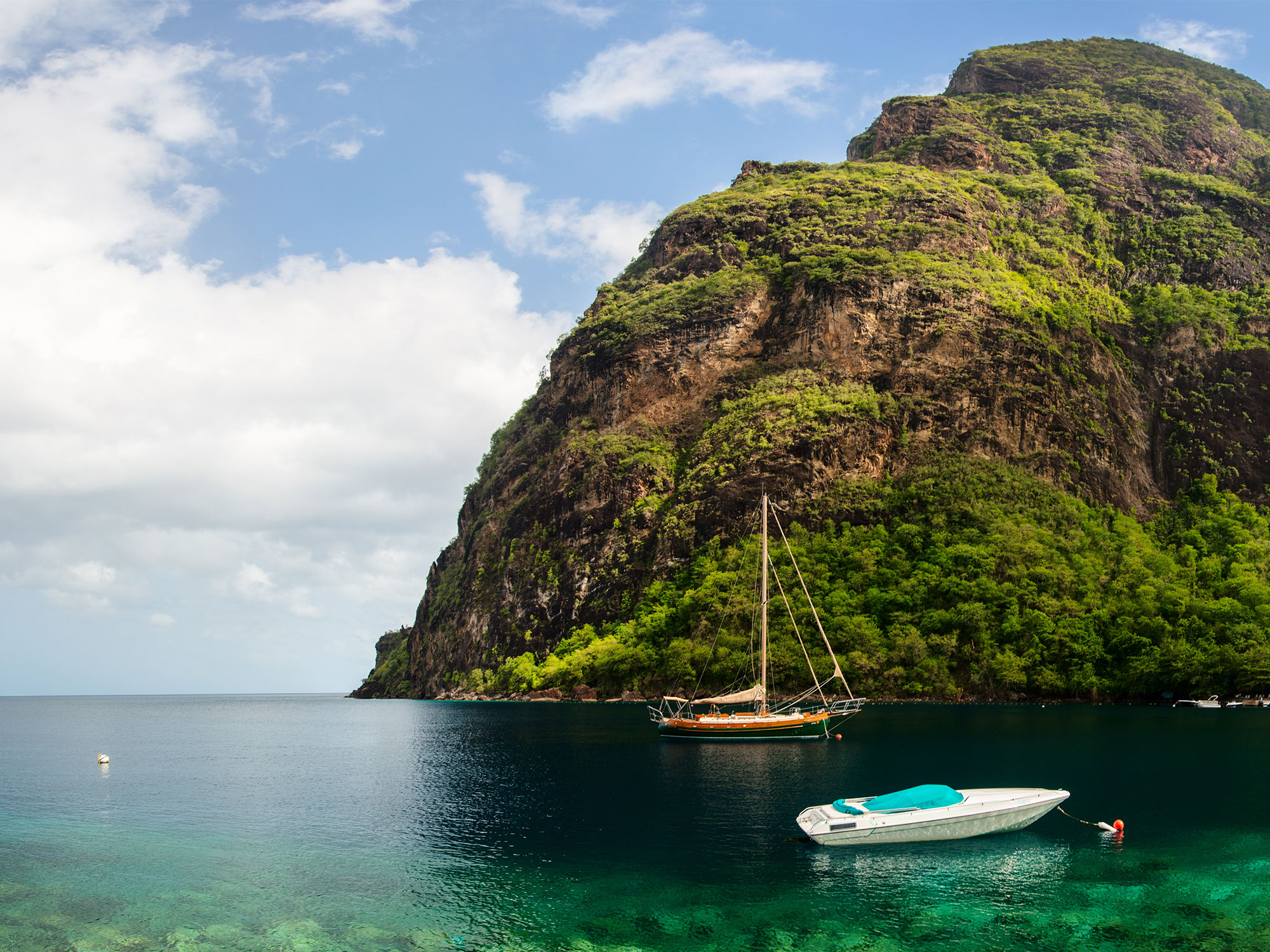 St. Lucia island in the Caribbean