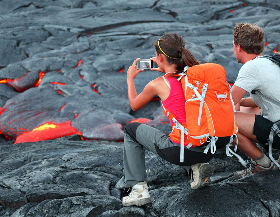Looking at lava on the Big Island of Hawaii