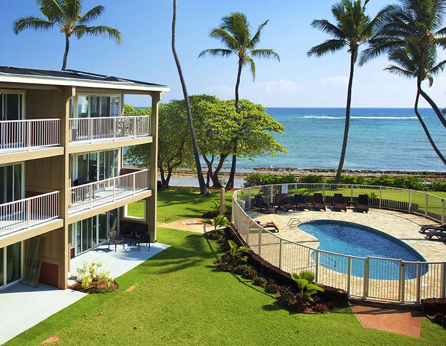 Beach resort in Kauai, Hawaii