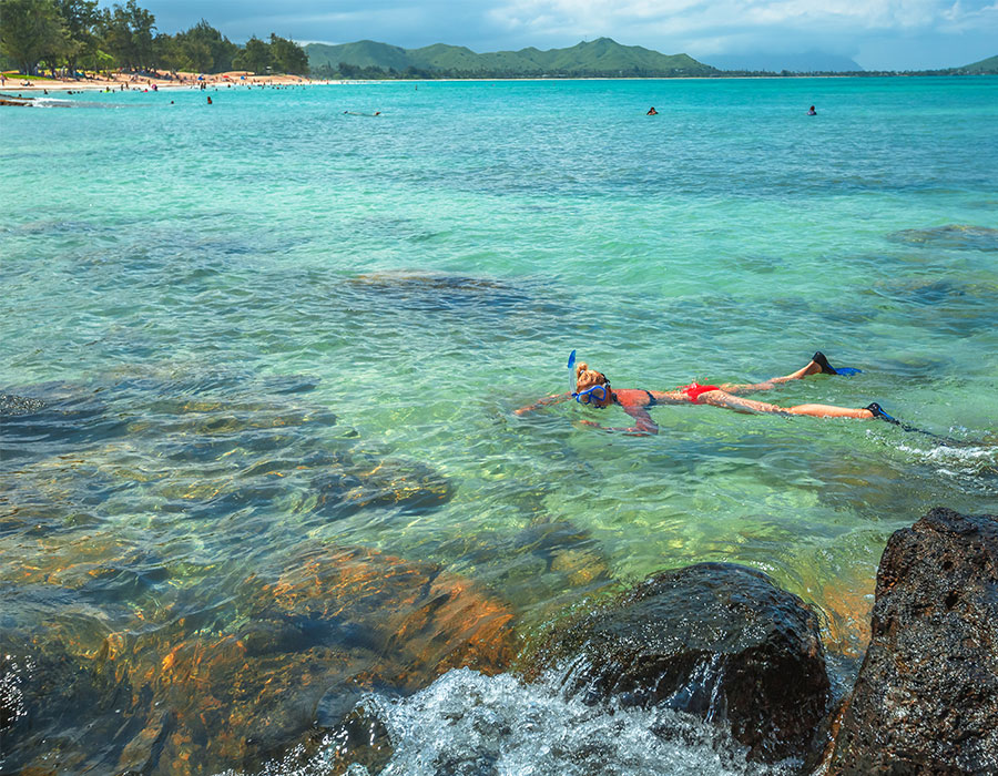 Snorkeling in Oahu, Hawaii