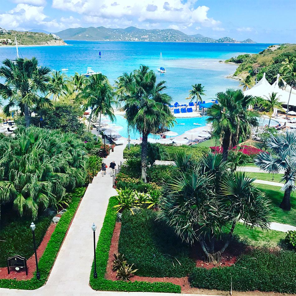 Resort on the island of St. Thomas