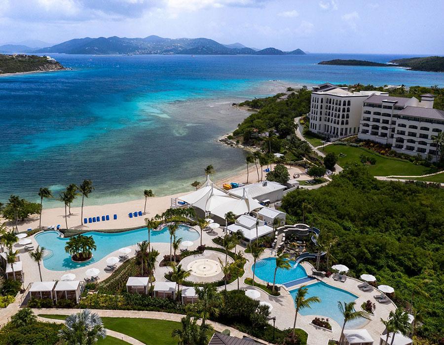 The Ritz-Carlton resort in St Thomas