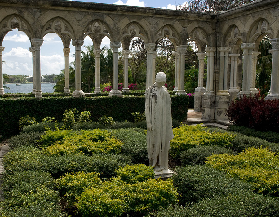 Walking in the Versailles Gardens of the Bahamas